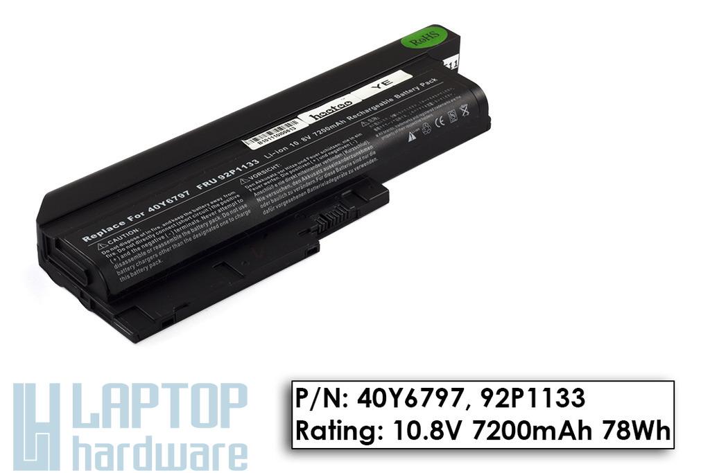 IBM ThinkPad R60, T60 használt 9 cellás 90%-os laptop akku/akkumulátor (FRU 92P1133)