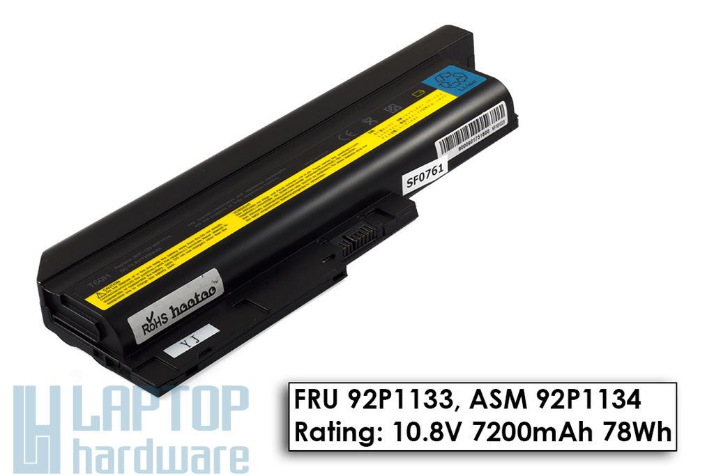 IBM ThinkPad R60, T60 használt 9 cellás 95%-os laptop akku/akkumulátor (FRU 92P1133)