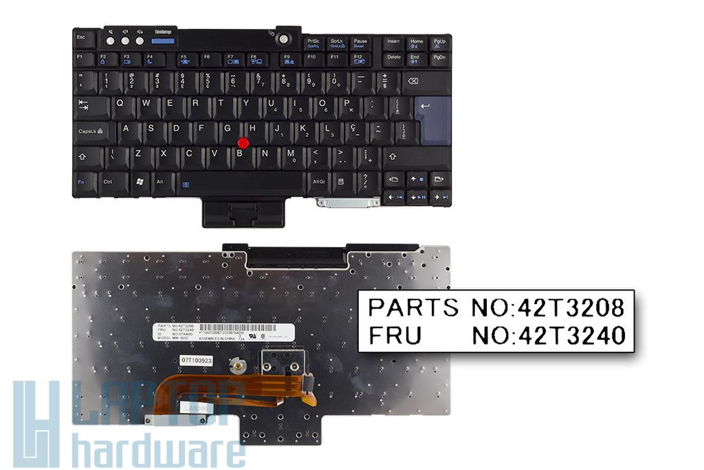 IBM ThinkPad R60, T60, Z60 gyári új brazil laptop billentyűzet (FRU 42T3240)