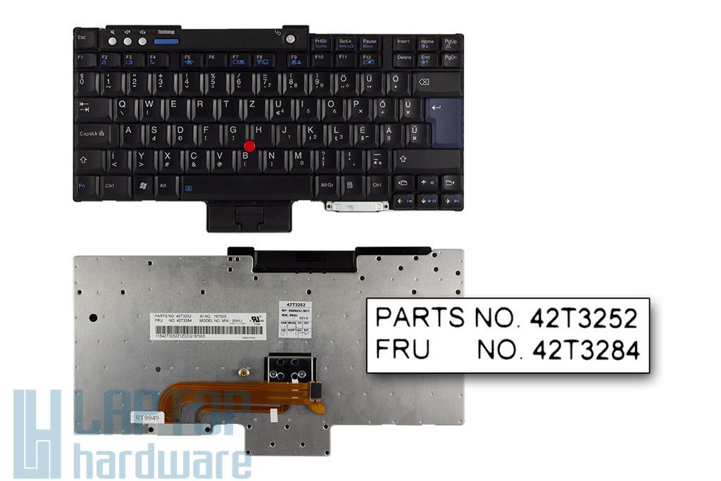 IBM ThinkPad R60, T60, Z60 gyári új magyar billentyűzet (FRU 42T3284)