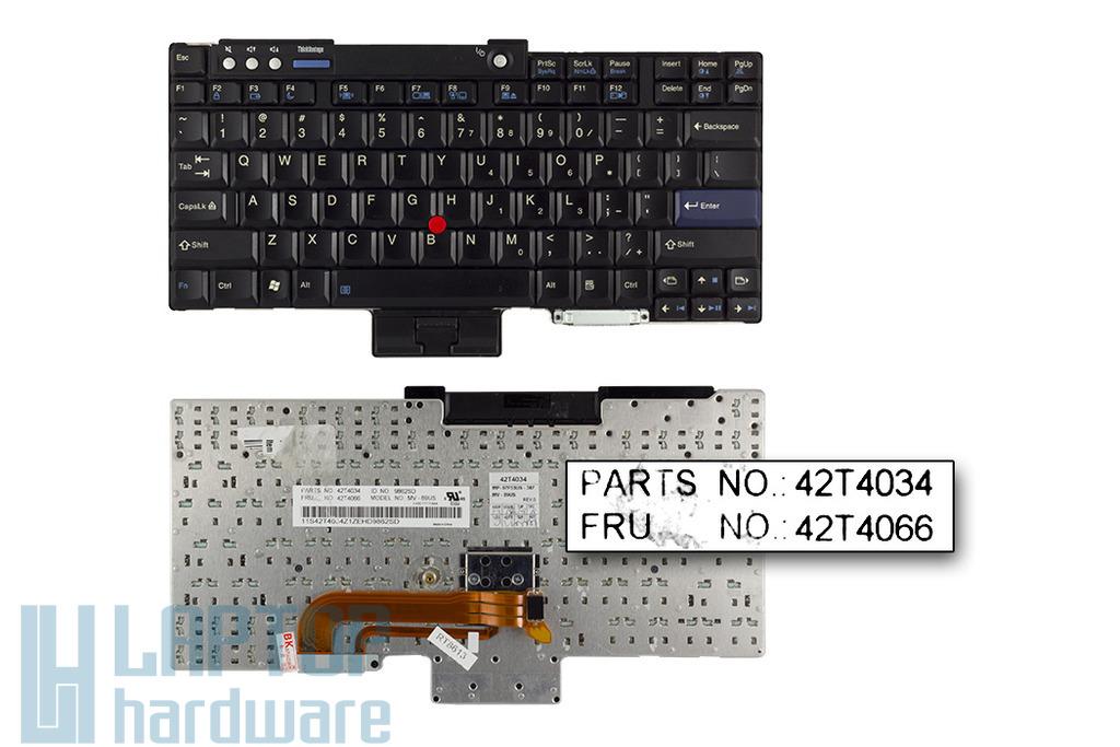 IBM ThinkPad R60, T60, Z60 gyári új US angol laptop billentyűzet (FRU 42T4034)
