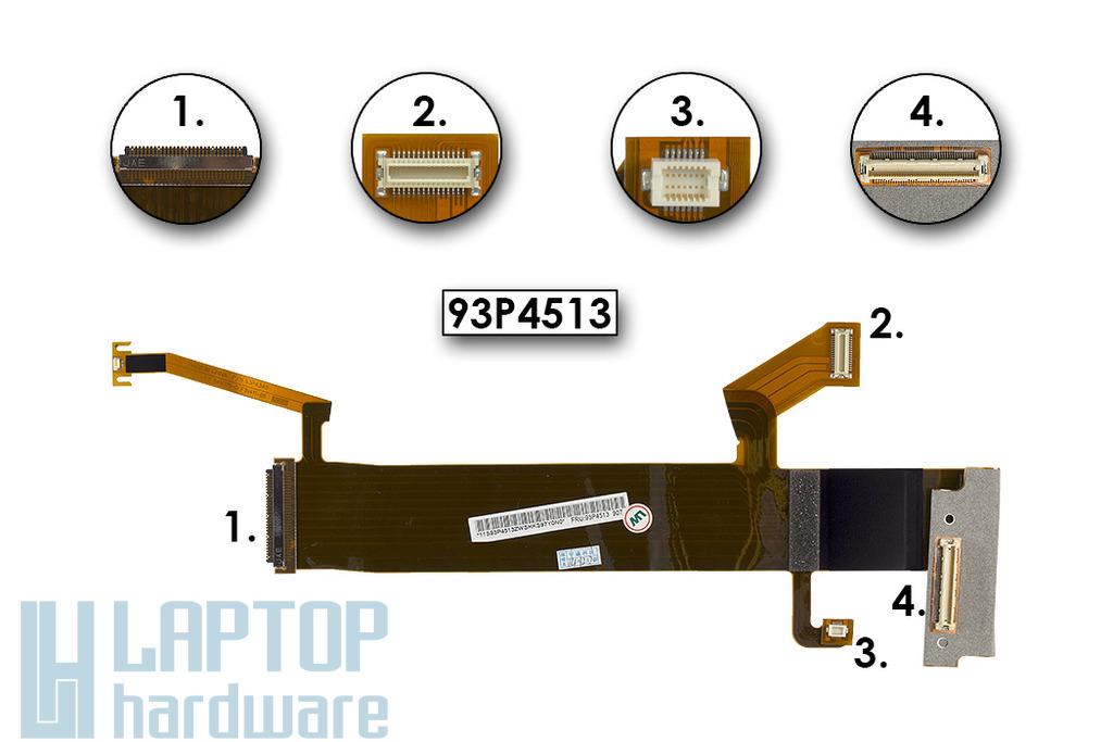 IBM ThinkPad R60, T61, T61 gyári új laptop LCD kábel,(15,4'') 93P4513
