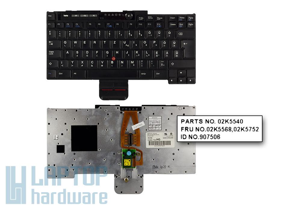 IBM ThinkPad T20, T21, T22, T23 használt magyar laptop billentyűzet (02K5568)