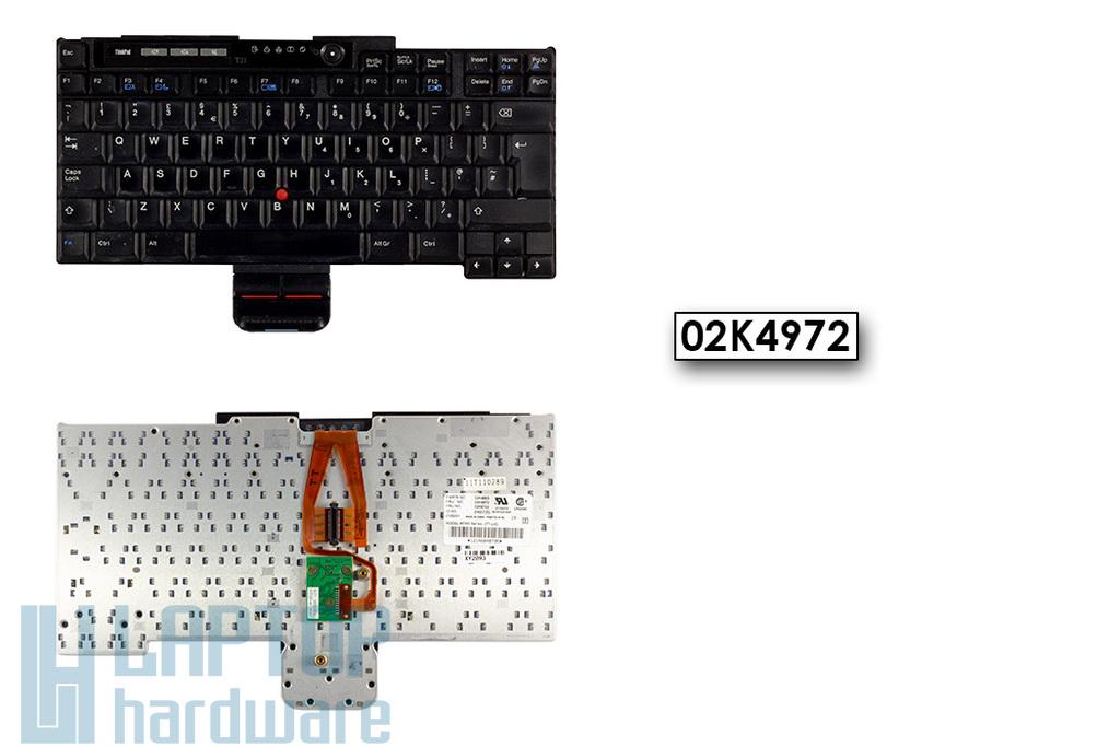 IBM ThinkPad T20, T21, T22, T23 használt UK angol laptop billentyűzet (02K4972)