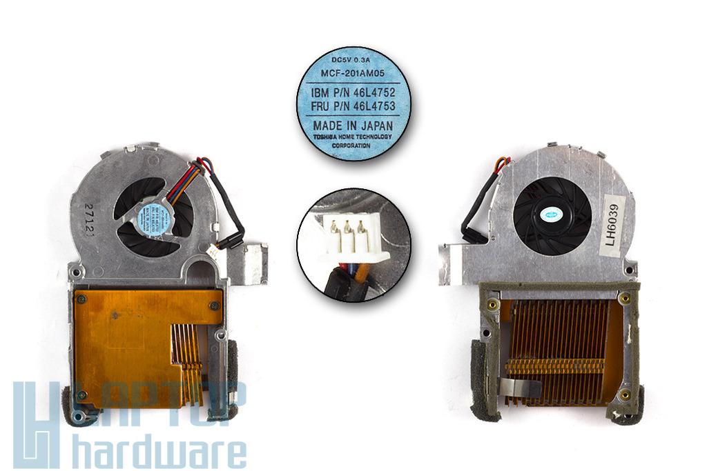 IBM ThinkPad T30 használt laptop hűtő ventilátor (46L4753, 46L4752)
