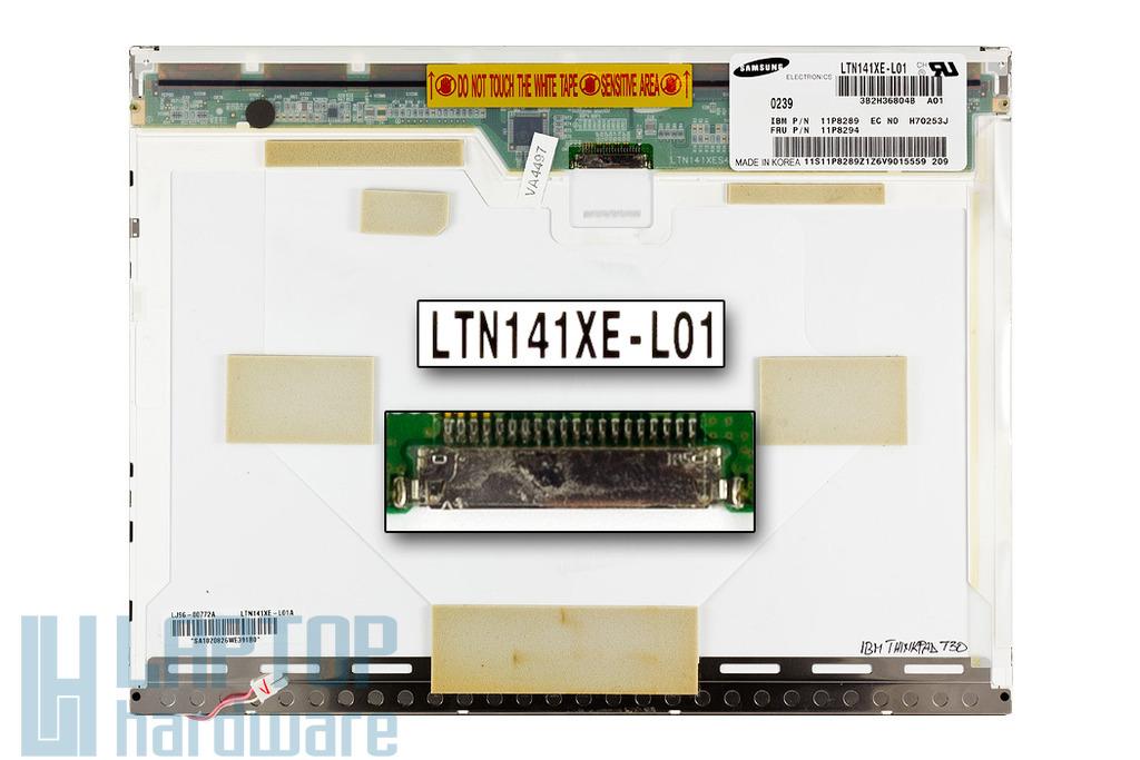 IBM ThinkPad T30 használt laptop kijelző LTN141XE-L01 (FRU 11P8294)