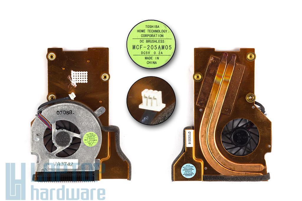IBM Lenovo ThinkPad T40, T40p, T41, T41p, T42, T42p gyári új laptop komplett hűtés (FRU 91P9254, 26R7860, MCF-205AM05