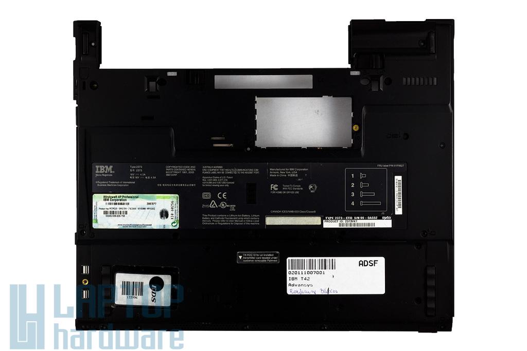 IBM Thinkpad T40, T41, T42 laptophoz használt alsó fedél (62P4220)