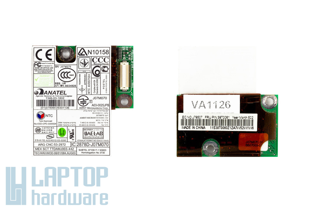 IBM Thinkpad T40, T41, T42 laptophoz használt 56K modem (39T0061)