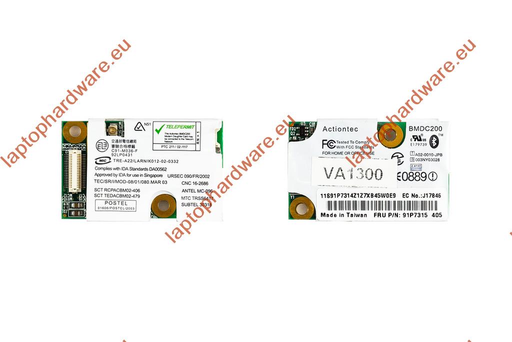 IBM Thinkpad T40, T41, T42 laptophoz használt bluetooth kártya (91P7315)