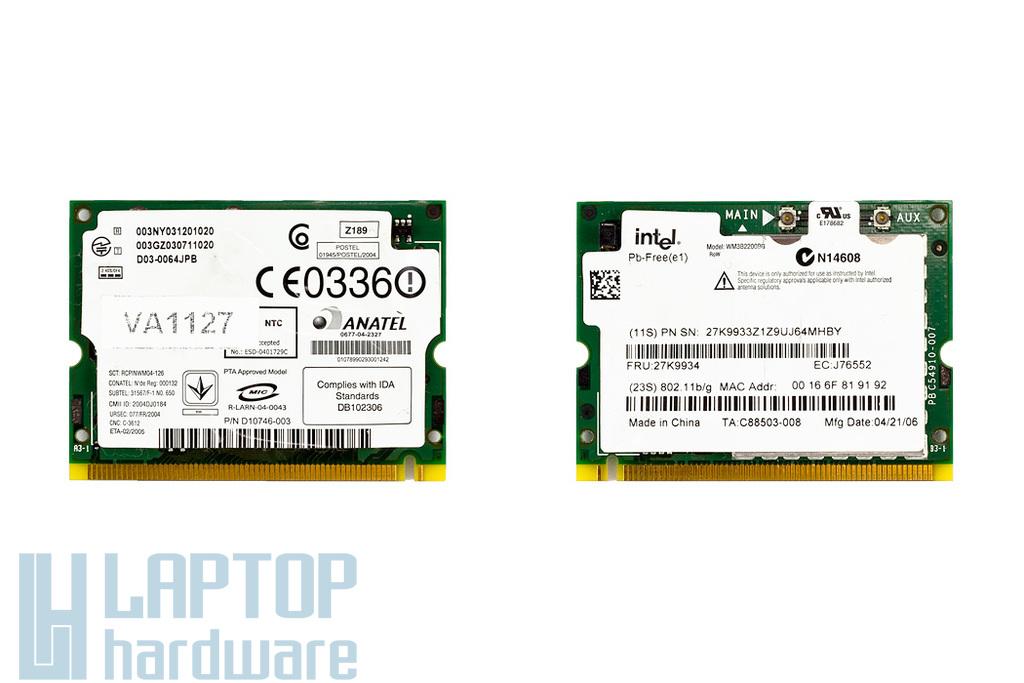 Intel WM3B2200BG használt Mini PCI WiFi kártya IBM laptophoz (39T0079)