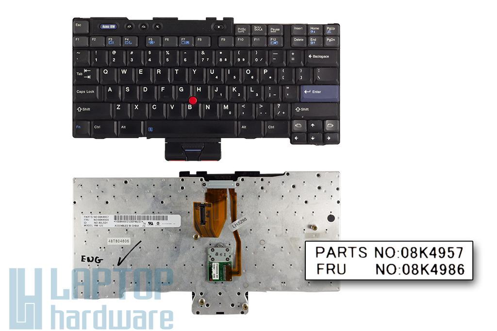 IBM ThinkPad T40, T41, T42, T43 (14 inch) használt angol laptop billentyűzet (08K4986)