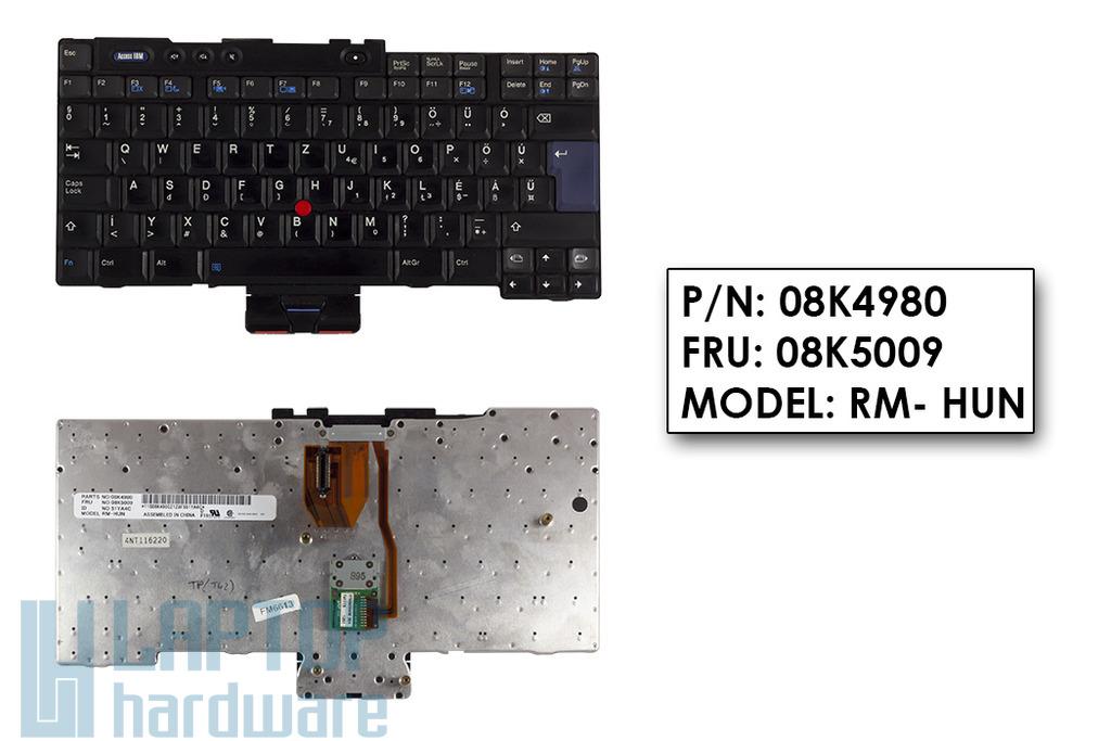 IBM ThinkPad T40, T41, T42, T43 (14 inch) használt magyar laptop billentyűzet (08K5009, 08K5038)