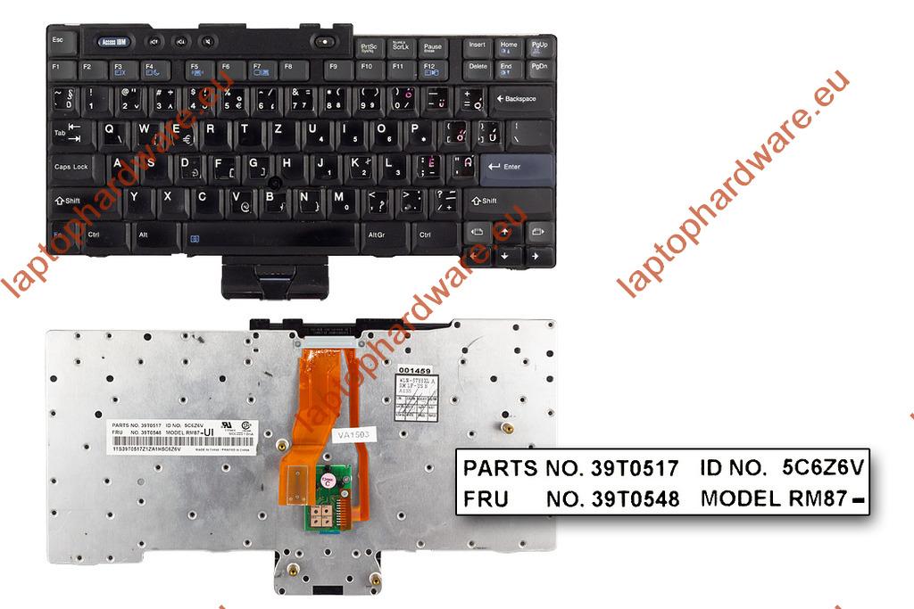 IBM ThinkPad T40, T41, T42, T43 (14 inch) használt magyarított US angol laptop billentyűzet (39T0548)