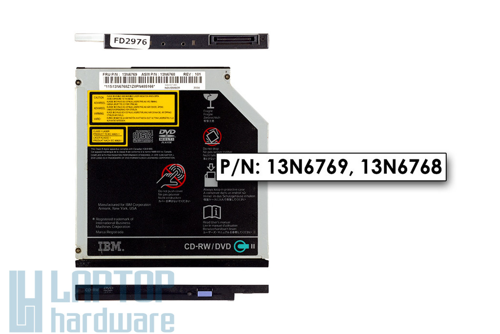 IBM ThinkPad T40, T41, T42, T43 laptop CD Író DVD olvasó combó meghajtó, FRU 13N6769