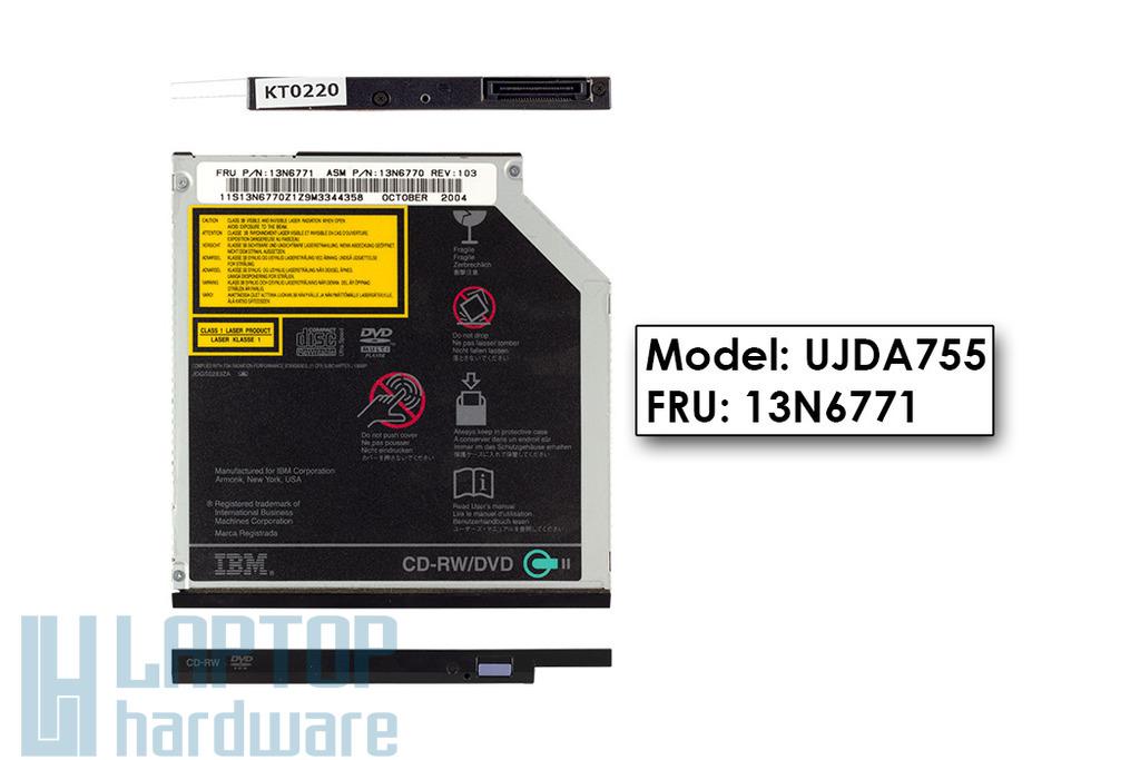 IBM ThinkPad T40, T41, T42, T43 laptop CD Író DVD olvasó combó meghajtó, FRU 13N6771