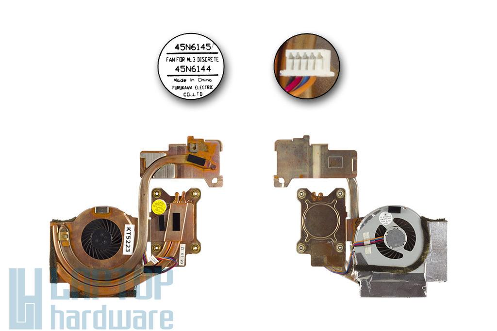 ThinkPad T400 laptophoz használt komplett hűtő ventilátor egység, 45N6144