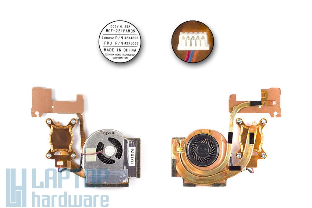 Lenovo ThinkPad T400, R400 laptophoz használt komplett hűtő ventilátor egység (42X5063)
