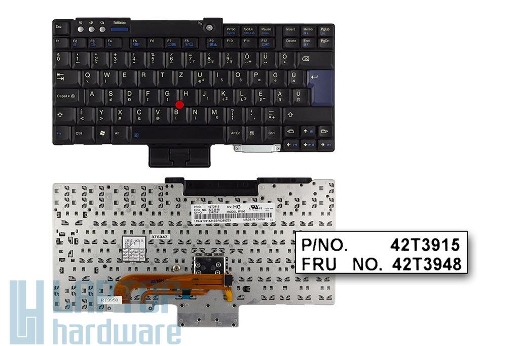 IBM ThinkPad T400, T500, R400, R500 gyári új magyar laptop billentyűzet (FRU 42T3948)