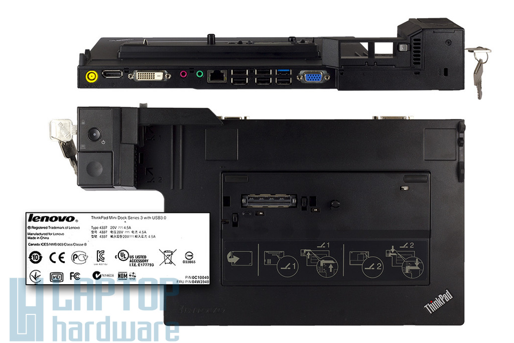 IBM ThinkPad T410, T510, X220, X230  gyári új Mini Dock Series 3, 04W3940