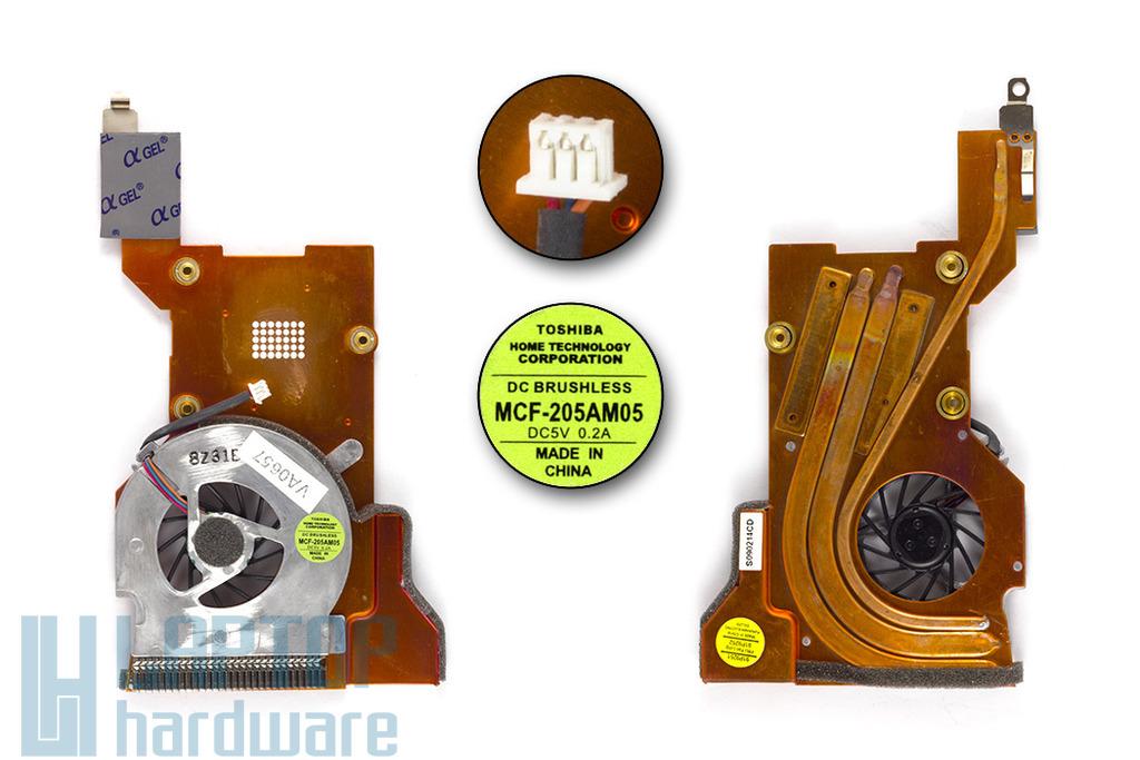 IBM ThinkPad T43, T43p LONG FAN gyári új laptop hűtő ventilátor (91P9252)
