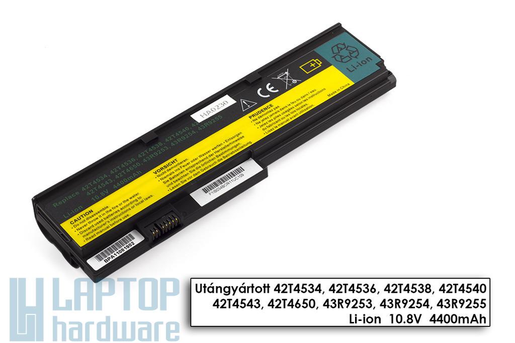 Lenovo ThinkPad X200, X201 helyettesítő új 6 cellás laptop akku/akkumulátor (42T4650)