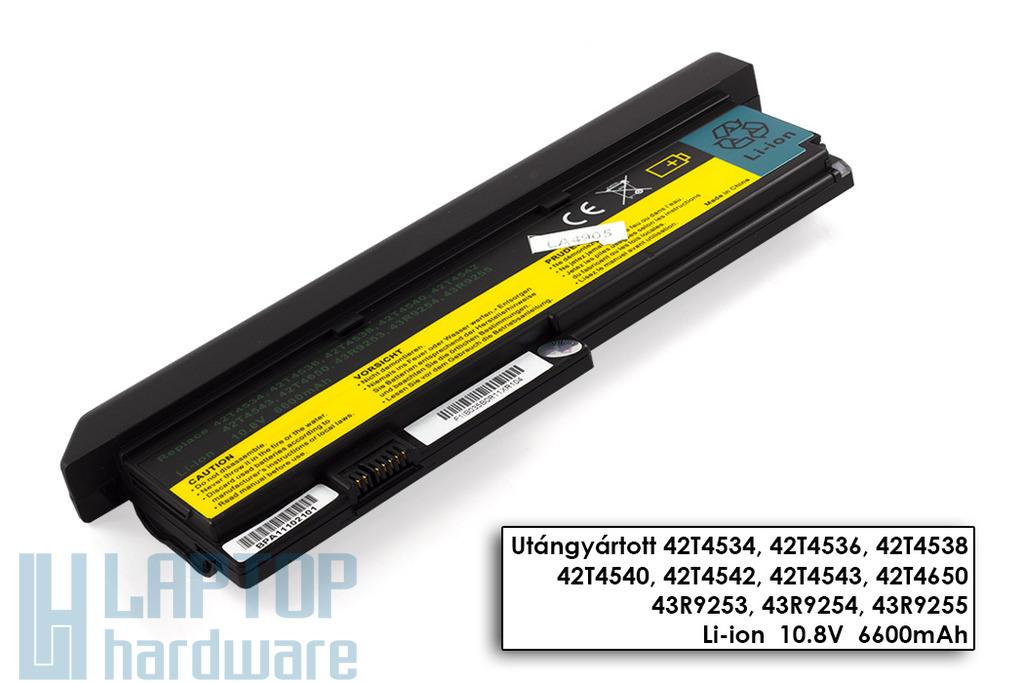 IBM ThinkPad X200, X201 helyettesítő új 9 cellás laptop akku/akkumulátor (42T4650)