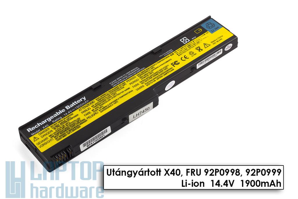 IBM ThinkPad X40, X41 helyettesítő új 4 cellás laptop akku/akkumulátor (FRU 92P0998)