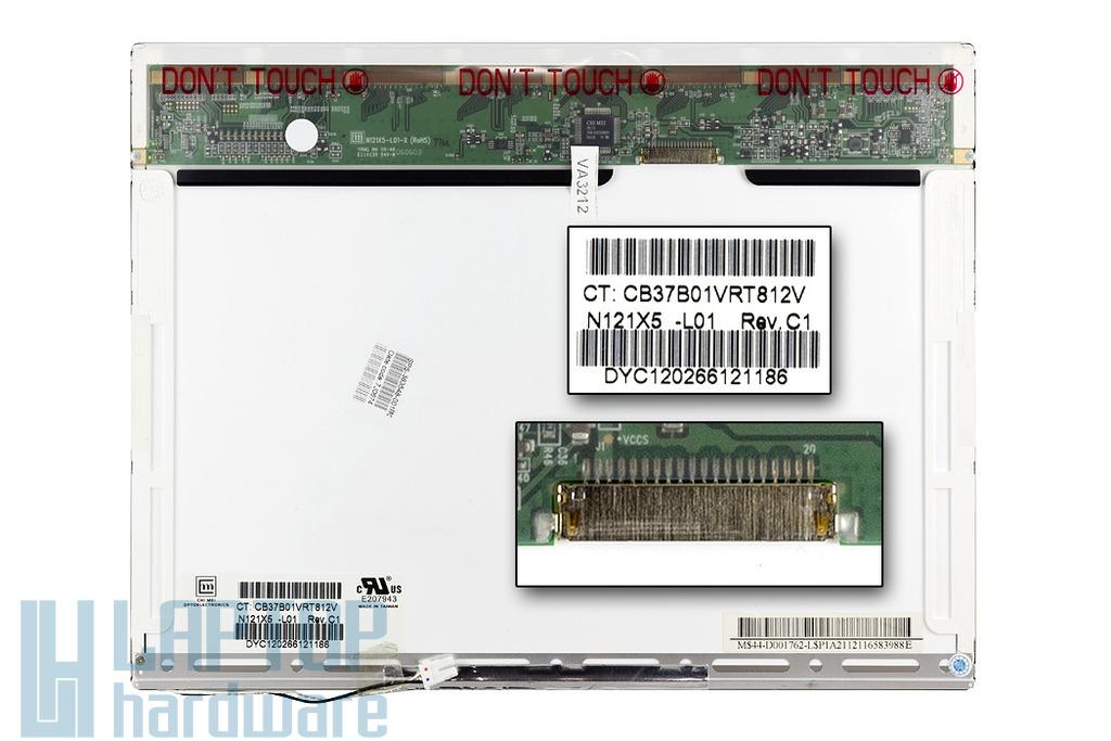 IBM ThinkPad X60, HP Compaq nc4000, nc4200 használt laptop kijelző (N121X5-L01)