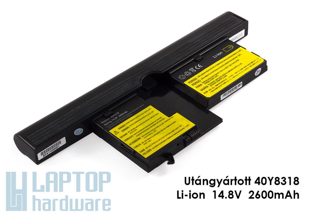 IBM/Lenovo ThinkPad X60t, X61t helyettesítő új 4 cellás laptop akku/akkumulátor (40Y8314)