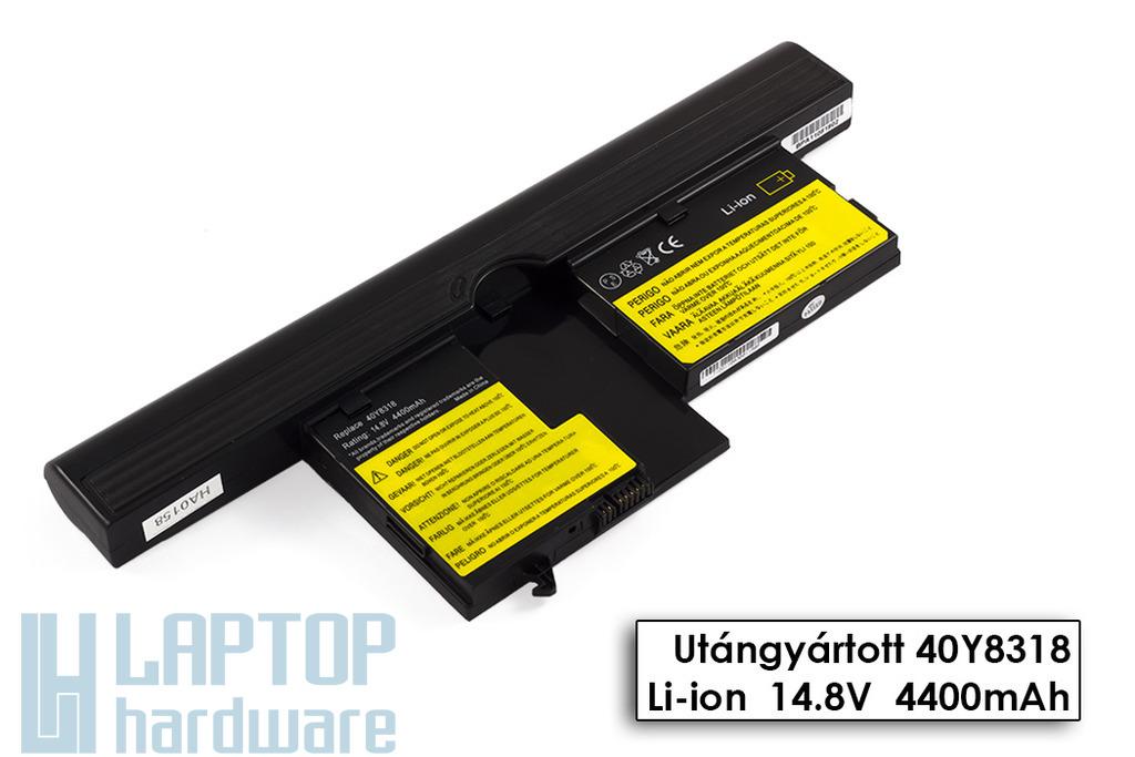 IBM/Lenovo ThinkPad X60t, X61t helyettesítő új 8 cellás laptop akku/akkumulátor (40Y8314)