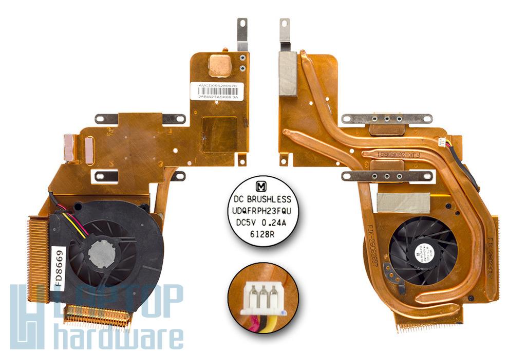 IBM ThinkPad Z60, Z60m, Z61m használt komplett hűtő ventilátor, UDQFRPH23FQU