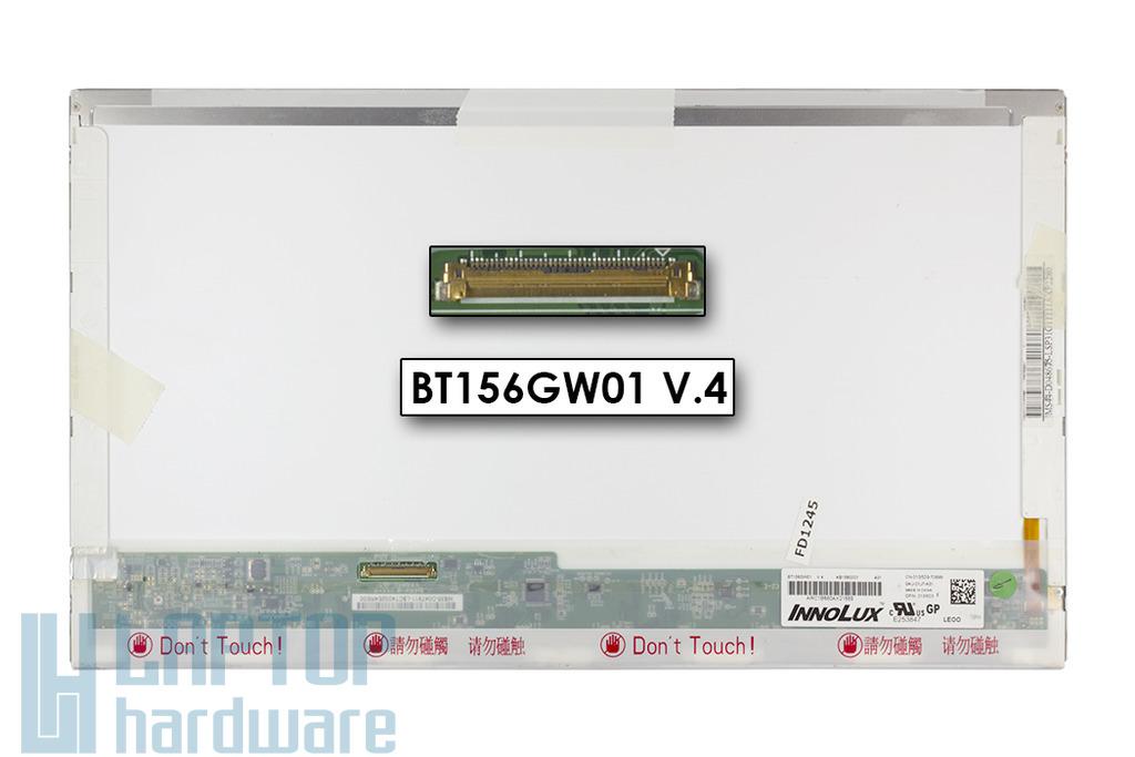 InnoLux BT156GW1 V.4 (15,6inch) 1366x768 HD LED használt fényes laptop kijelző