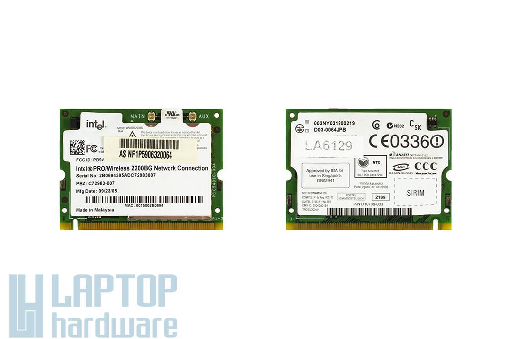Intel 2200BG használt Mini PCI WiFi kártya Asus laptophoz (D10709-003)