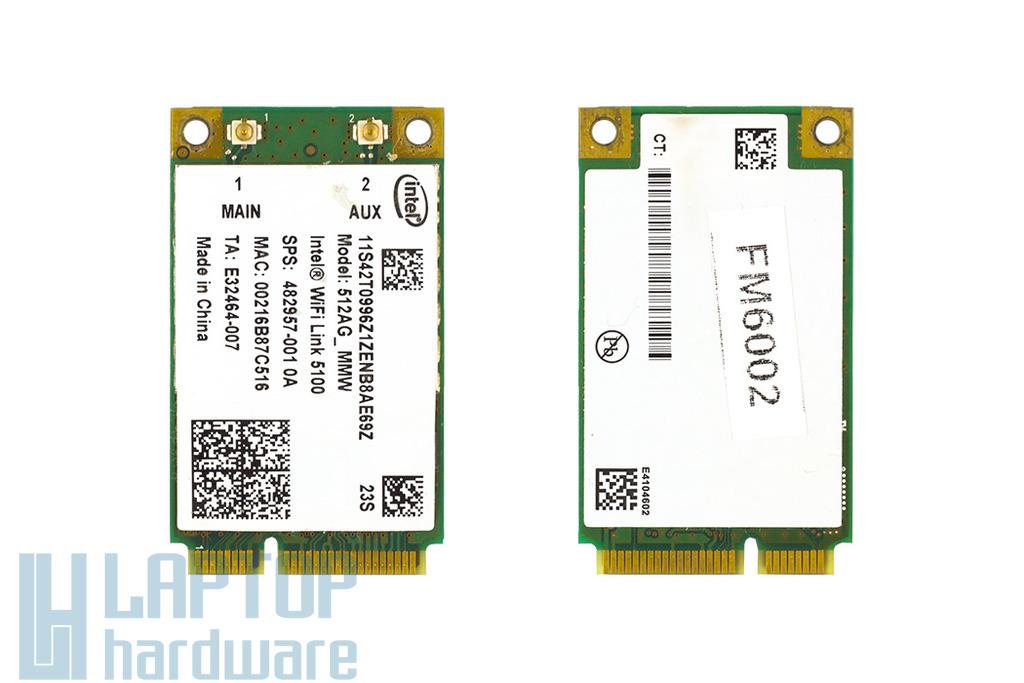 Intel 512AG_MMW használt Mini PCI-e WiFi kártya (482957-001)