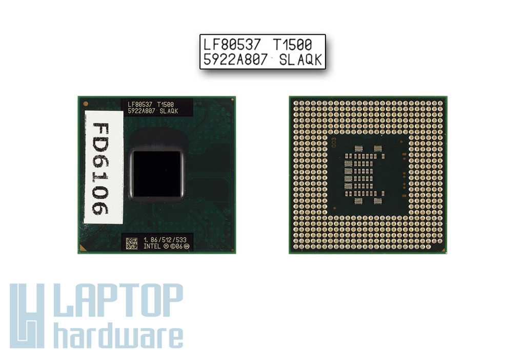 Intel Celeron Dual Core T1500 1866MHz használt laptop CPU (SLAQK)