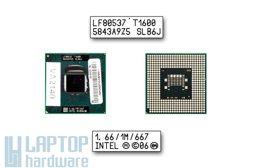 Intel Celeron Dual Core T1600 1667MHz használt laptop CPU (SLB6J)