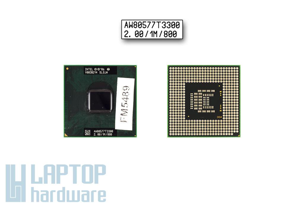 Intel Celeron Dual Core T3300 2000MHz használt laptop CPU (SLGJW)