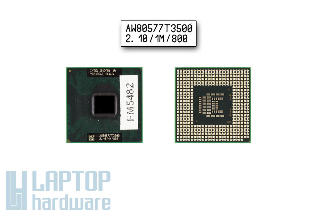Intel Celeron Dual Core T3500 2100MHz használt laptop CPU (SLGJV)