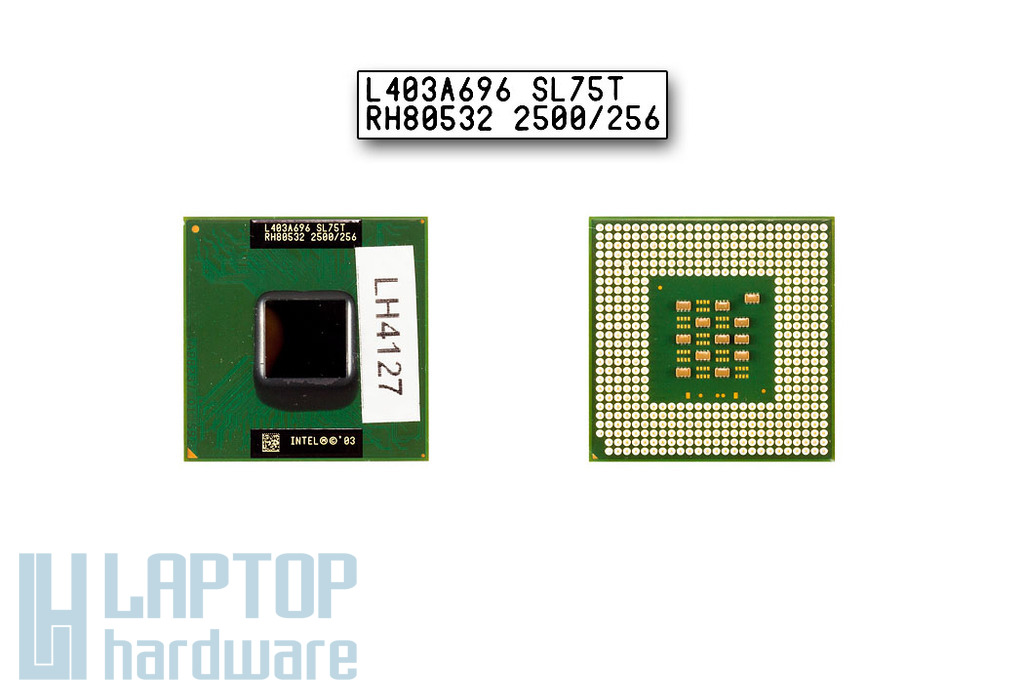 Intel Celeron M 2500MHz használt laptop CPU (SL75T)
