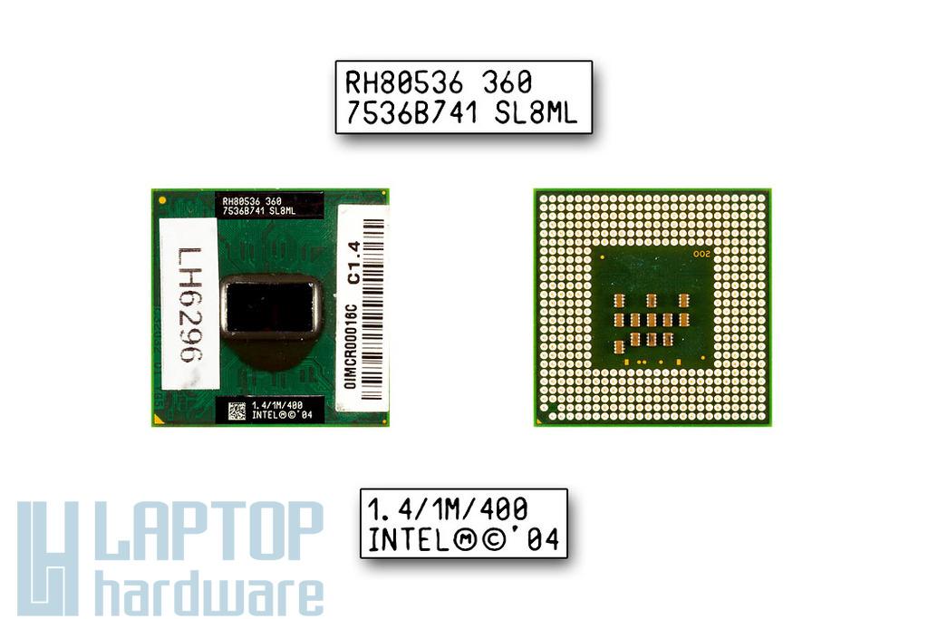 Intel Celeron M360 1400MHz használt laptop CPU (SL8ML,SL86K, SL7LS)