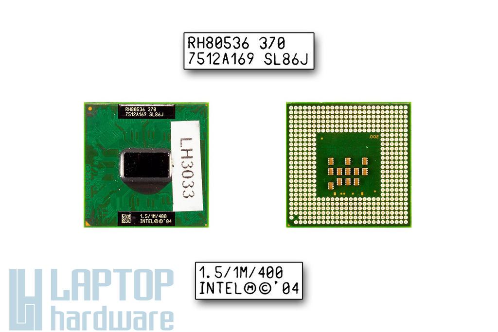 Intel Celeron M370 1500MHz használt laptop CPU (SL8MM, SL86J)