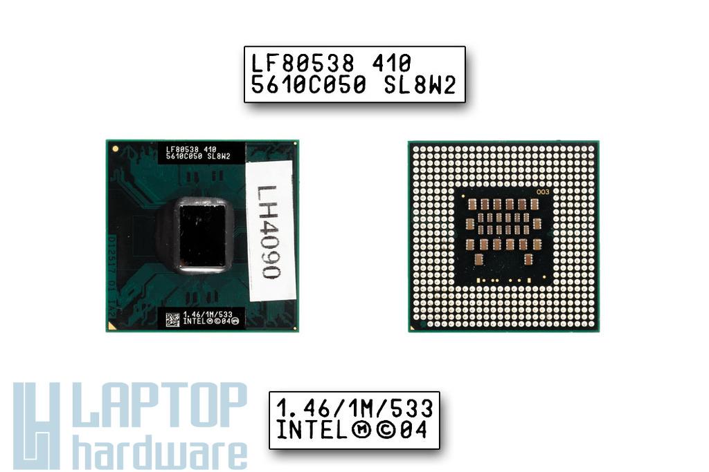 Intel Celeron M410 1460MHz használt laptop CPU (SL8W2)