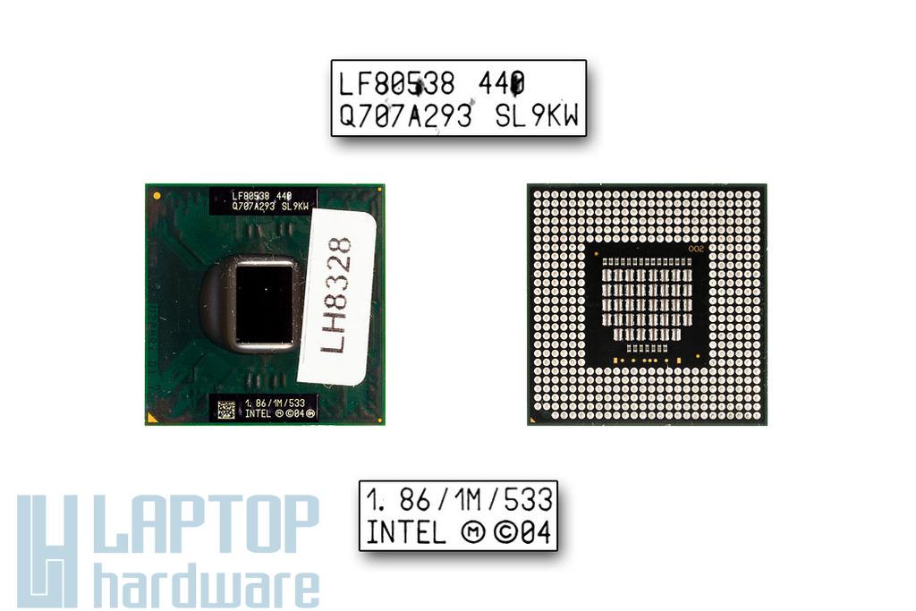Intel Celeron M440 1860MHz használt laptop CPU (SL9KW)