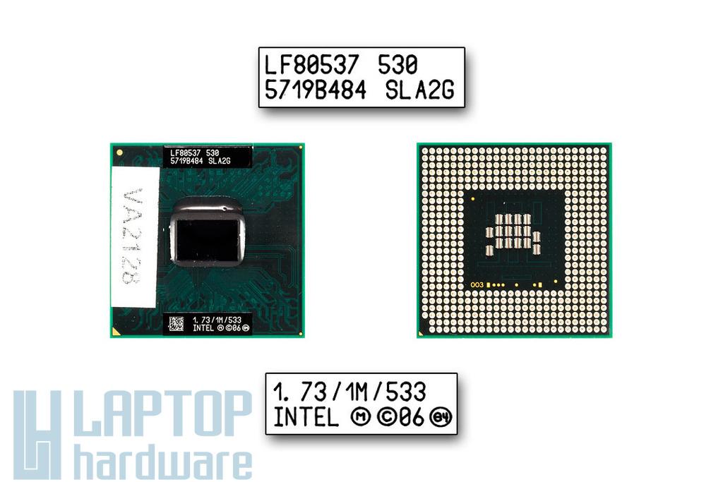 Intel Celeron M530 1730MHz (Socket P) használt laptop CPU (SLA2G)