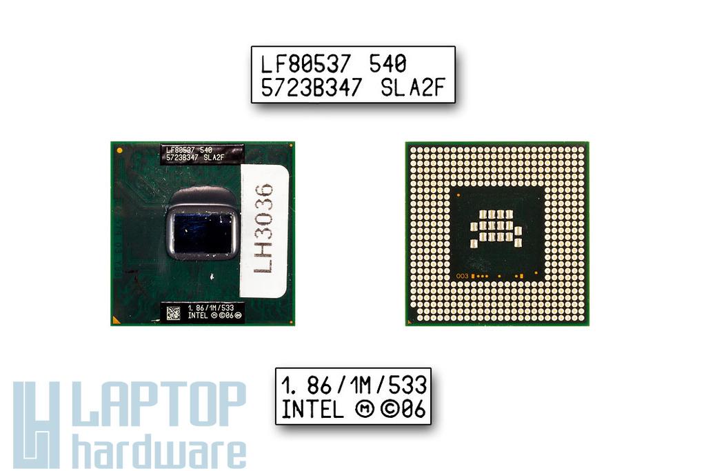 Intel Celeron M540 1860MHz használt laptop CPU (SLA2F)