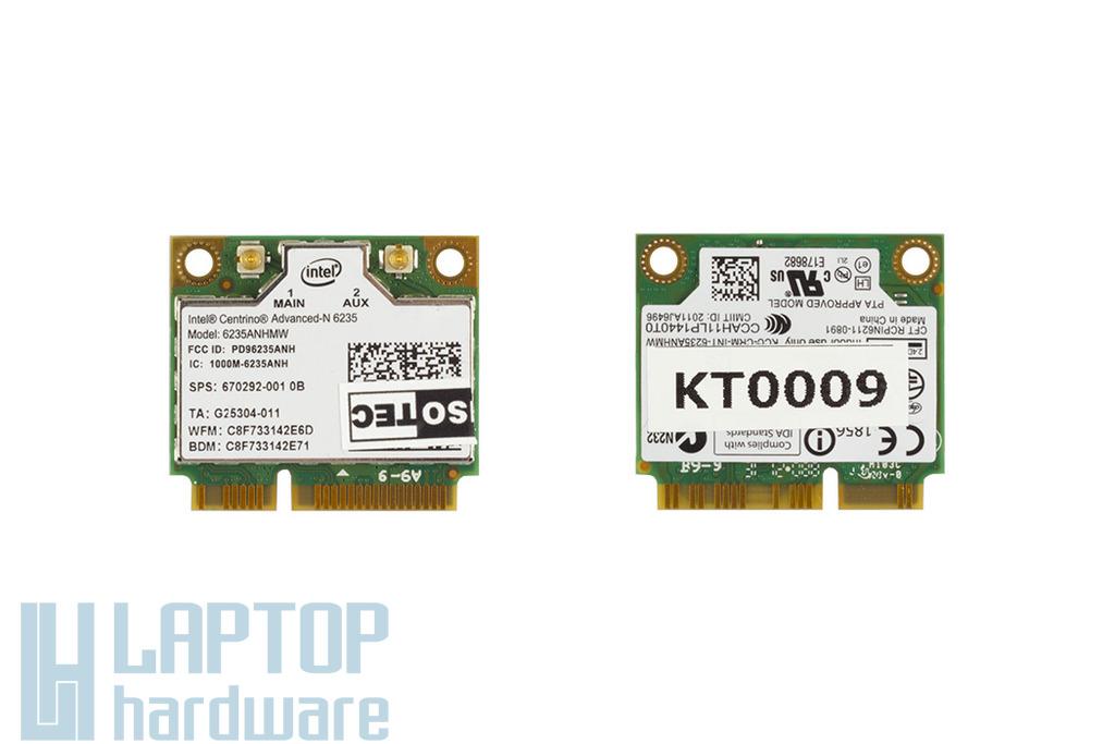 Intel Centrino Advanced-N 6235 mini Wifi és BlueTooth combo kártya, 6235ANHMW, SPS 670292-001
