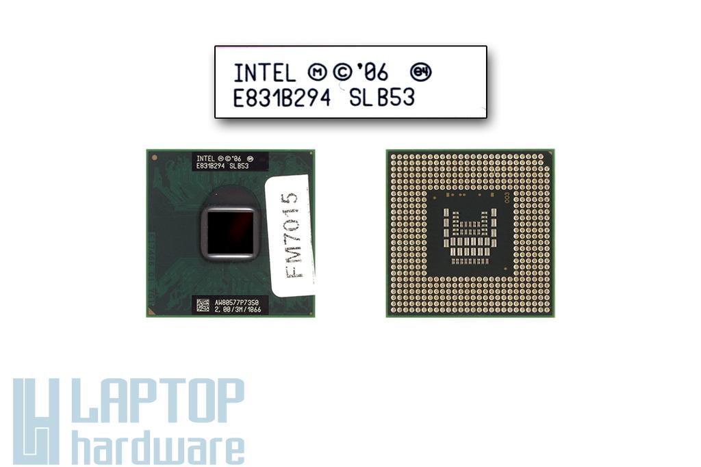 Intel Core 2 Duo P7350 2000MHz használt laptop CPU (SLB53)