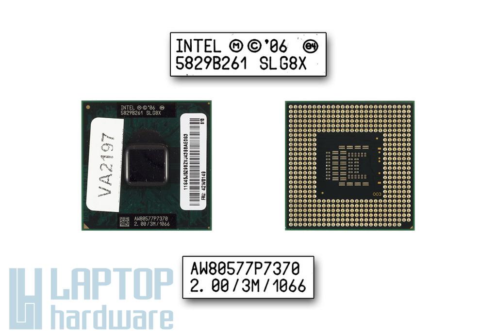 Intel Core 2 Duo P7370 2000MHz használt laptop CPU (SLG8X)