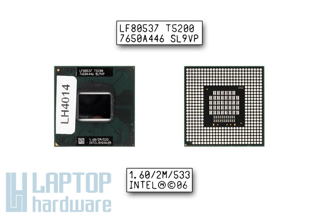 Intel Core 2 Duo T5200 1600MHz használt laptop CPU